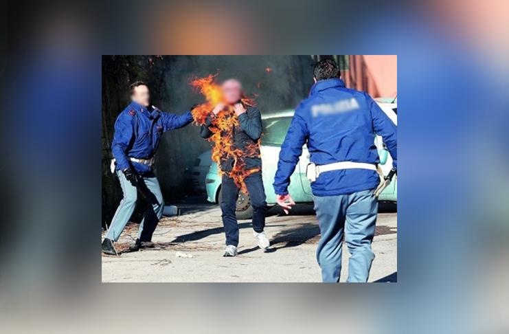 Litiga con i genitori, giovane esce di casa e si dà fuoco