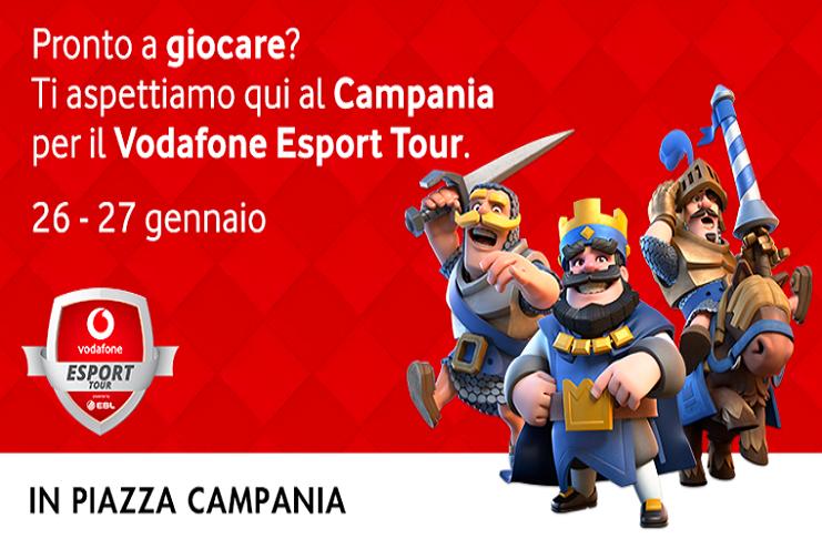 Vodafone Centro Campania.Vodafone Esport Tour Al Centro Commerciale Campania Di